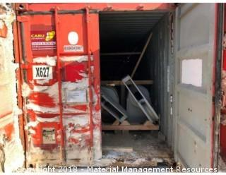 Container w/Button chocks, fairleads, lashing chain, shackle, tire hangers