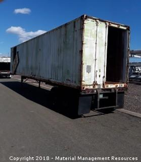2 qty. Storage Containers on Trailers