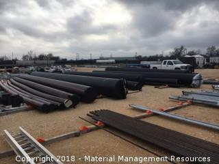 """UNUSED HDPE PIPE RANGING FROM 4""""-36"""" - BEAUMONT, TX (BID PER TON)"""